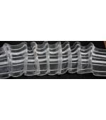 Универсален равномерен ширит-перделик за пердета и завеси от текстил или силикон 60мм.