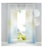 Готова панел завеса-японска стена от фин муселин с ленена текстура, размер 245x60см. за окачване на ПВЦ или алуминиева релса, код-10000147