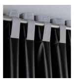 Затъмняваща 100%, плътна завеса с пришита ширит лента за окачване на релса или тръбен корниз с размер  254x140см. плюс коланче, код-10000350