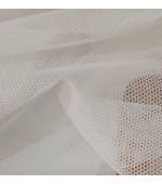 Плат за тънки, прозрачни дневни пердета , изчистен десен завършек вълнообразен бордюр 9см. височина 290см. код-NUH-12024