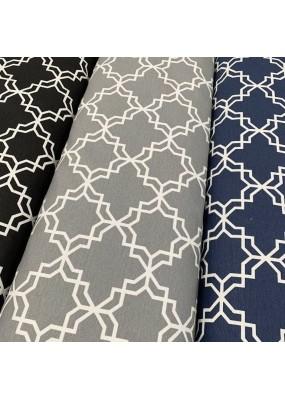 """Плат на геометрични фигури за завеси, покривки,тишлайфери,шалтета,дамаска """"DUCK"""", петно и водоустойчив,  65% памук 35% полиестер, 215гр./м², код-023709"""