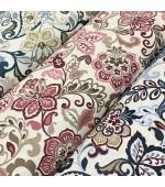 """Плат на цветя с флорални елементи за завеси, покривки,тишлайфери,шалтета,дамаска """"DUCK"""", петно и водоустойчив,  65% памук 35% полиестер, 215гр./м², код-111064"""