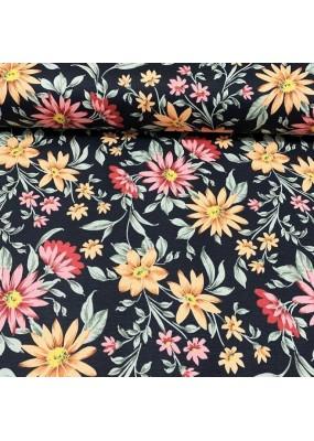 """Плат на цветя за завеси, покривки,тишлайфери,шалтета,дамаска """"DUCK"""", петно и водоустойчив,  65% памук 35% полиестер, 215гр./м², код-111089-1"""