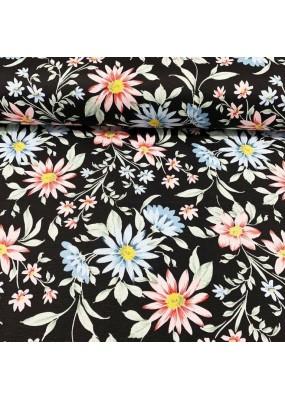 """Плат на цветя за завеси, покривки,тишлайфери,шалтета,дамаска """"DUCK"""", петно и водоустойчив,  65% памук 35% полиестер, 215гр./м², код-111089-2"""
