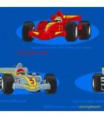 Детски комплект с апликации на коли за момчета от 5 части