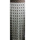 Перде на ресни с втъкани в нишките малки и големи кръгове в различни цветове, размер 300x300см. за поставяне на релса или тръбен корниз