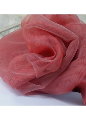 """19 цвята луксозна серия органза- """"MIRA"""" с мрежовидна структура, лъскав ефект и оловна нишка, ширина 300см. едноцветна, код-25236"""