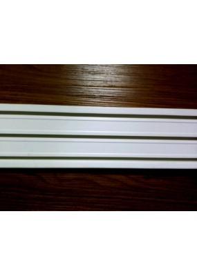 Триканална ПВЦ релса за поставяне на пердета,завеси и панел завеси-японска стена с дължина до 6.00 м. код-3950