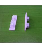 Комплект от 2 броя завършващи капачки за двуканална немска ПВЦ релса-шина, код-3969