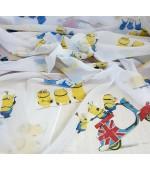 Детски плат за пердета с анимационни Дисни герои, десен-Миньоните, височина 300см. код-10315