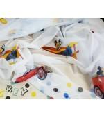 Детски плат за пердета с анимационни Дисни герои, десен-Мики Маус, височина 300см. код-10335