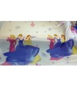 Детски плат за пердета, десен-Барби принцеси, височина 300см. код-10149