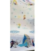 Детски плат за пердета с анимационни Дисни герои, десен-Замръзналото кралство, височина 300см. код-10336