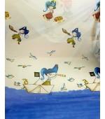 Детски плат за пердета, десен-Морски пирати, височина 300см. код-10303