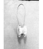 Декоративна пластмасова магнитна щипка за превързване на завеси и пердета цвят сив и злато, код-79007