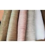 Плат за тънки пердета ленена органза, за дневна хол или спалня, ширина 280см. код-L00532