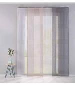 """Полупрозрачна плъзгаща се панел завеса на райета, имитация на лен, серия """"САНРЕМО"""", размер 245x60см. за окачване на ПВЦ или алуминиева релса, код-20190342"""