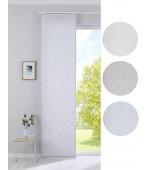 """Полупрозрачна плъзгаща се панел завеса с жакардова текстура, серия """"СИВАС"""", размер 245x60см. за окачване на ПВЦ или алуминиева релса, код-20190351"""