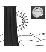 Плътна завеса с вградени халки за тръбен корниз от плат блекаут с тегло: 250 гр / м ².  подходяща за спалня,хол или детска с размер 245x135см.  (височина x ширина)