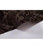 Полупрозрачна завеса стил БАРОК, цвят кафяв, 245х140 (височина х ширина) подходяща за релса и тръбен корниз, код-20203