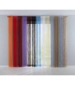 Модно перде на ресни с пришита универсална широка ширит лента (перделък) от сатен подходящо за поставяне на корниз и релса в изключително богата гама от  цветове с размер 250x140см.