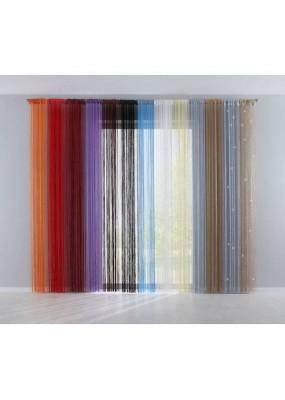Комплект от 2бр.  еднакви доста модни пердета на ресни с пришити универсални широки ширит ленти  от сатен подходящи за поставяне на корниз и релса в  богата гама от актуални цветове с размери 250x140см. за един брой перде