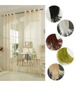 Стилно перде на ресни с вградени халки за окачване на тръбен корниз с размер 250x140см. (височина x ширина в опънато състояние) в 5 цвята