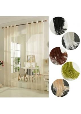 Стилно перде на ресни с вградени халки за окачване на тръбен корниз с размер 260x140см. (височина x ширина в опънато състояние) в 5 цвята