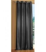 Стилна тафта завеса с вградени халки за окачване на тръбен корниз в зелено и черно, размер 245x140см. код-20330