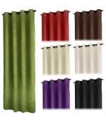 Плътна  завеса  от промазан  сатен  с флорални релефни елементи за тръбен корниз  245 x 135см. в различни цветове