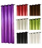 Плътна  завеса  от промазан  сатен  с релефни графични елементи за тръбен корниз  245 x 135см. в различни цветове