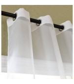 Прозрачно перде от фин муселин с вградени халки за поставяне на тръбен корниз, в преливащи пастелни тонове, размер 245x140см. код-20420