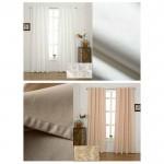 Плътна термо завеса  от жакард за максимална изолация, подходяща за окачване на релса или тръбен корниз,  размер 245x140см. 300gr./m², код-20460