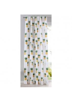 Детска готова завеса с дигитално отпечатана щампа десен-ананас, размер 245x140см.(височина x ширина) код-20490-8