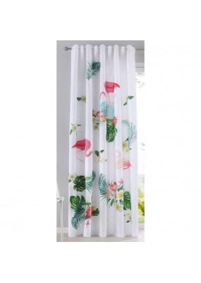 Детска готова завеса с дигитално отпечатана щампа десен-фламинго, размер 245x140см.(височина x ширина) код-20490-11
