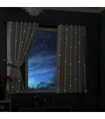 Детска светеща през нощта флуоресцентна завеса Звездна нощ, цвят бял, размер 175x145см. код-20495
