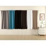 """Плътна завеса от плат """"Блекаут""""  за максимално затъмнение, с пришита ширит лента за окачване на релса или тръбен корниз, размер 175x135см. код-20620"""