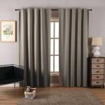 """Плътна завеса от плат """"Блекаут""""  за максимално затъмнение, с пришита ширит лента за окачване на релса или тръбен корниз, цвят сив, размер 245x135см. код-20614"""