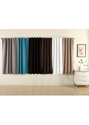 """Плътна завеса от плат """"Блекаут""""  за максимално затъмнение, с пришита ширит лента за окачване на релса или тръбен корниз, размер 175x275см. код-20621"""