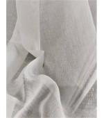 Плат за тънки, прозрачни дневни пердета имитация на лен, ширина 300см. с оловна нишка, цвят бял и слонова кост, код-25753