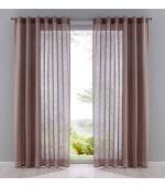 Стилна фигурална полупрозрачна завеса  за монтаж на тръбен корниз в три цвята, размер 235x140см.(височина x ширина)