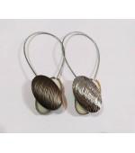 Декоративна магнитна щипка за превързване на завеси и пердета цвят сребрист и антик голд, код-79011