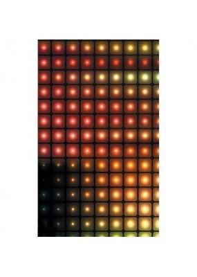 2 броя в пакет, завеси-японска стена,плътна и тънка, всяка с размер 245x45см. за окачване на ПВЦ или алуминиева релса,квадрати, код-80419