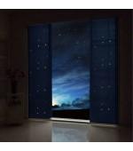 Детска светеща през нощта  флуоресцентна панел завеса тип японска стена, размер 245x60см. за окачване на ПВЦ или алуминиева релса, код-804951