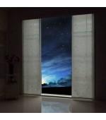 Светеща през нощта  флуоресцентна панел завеса тип японска стена, размер 245x60см. за окачване на ПВЦ или алуминиева релса, код-80495