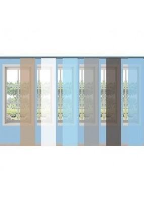 Прозрачна плъзгаща се панел завеса-японска стена от фин муселин, размер 245x45см. за окачване на ПВЦ или алуминиева релса, код-80600