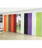 Панел завеса от микросатен тип японска стена за окачване на обикновенна пвц релса, размер  245x60см. (височина x ширина) в различни цветове