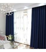 """Плътна елегантна завеса в различни цветове от плат """"Блекаут""""  за максимално затъмнение с пришита ширит лента за окачване на ПВЦ, алуминиева или метална релся с размер 245x140см. код-20611"""