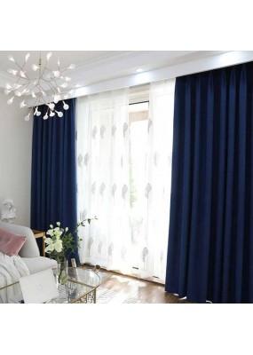 """Плътна елегантна завеса в различни цветове от плат """"Блекаут""""  за пълно затъмнение с пришита ширит лента за окачване на ПВЦ и метални релси с размер (в опънато състояние) 245x140см."""