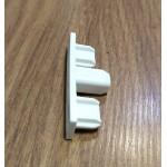 Завършваща капачка за двуканална и триканална ПВЦ релса цвят бял, код-3963